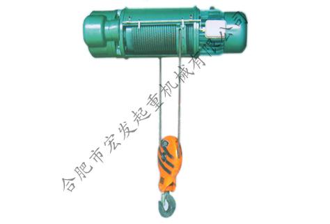 (1)电机轴线垂直于卷筒轴线的电动葫芦采用蜗轮